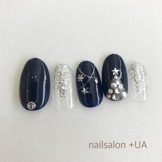 大人女性のクリスマスネイル10選 , 岐阜市の爪に優しいジェル